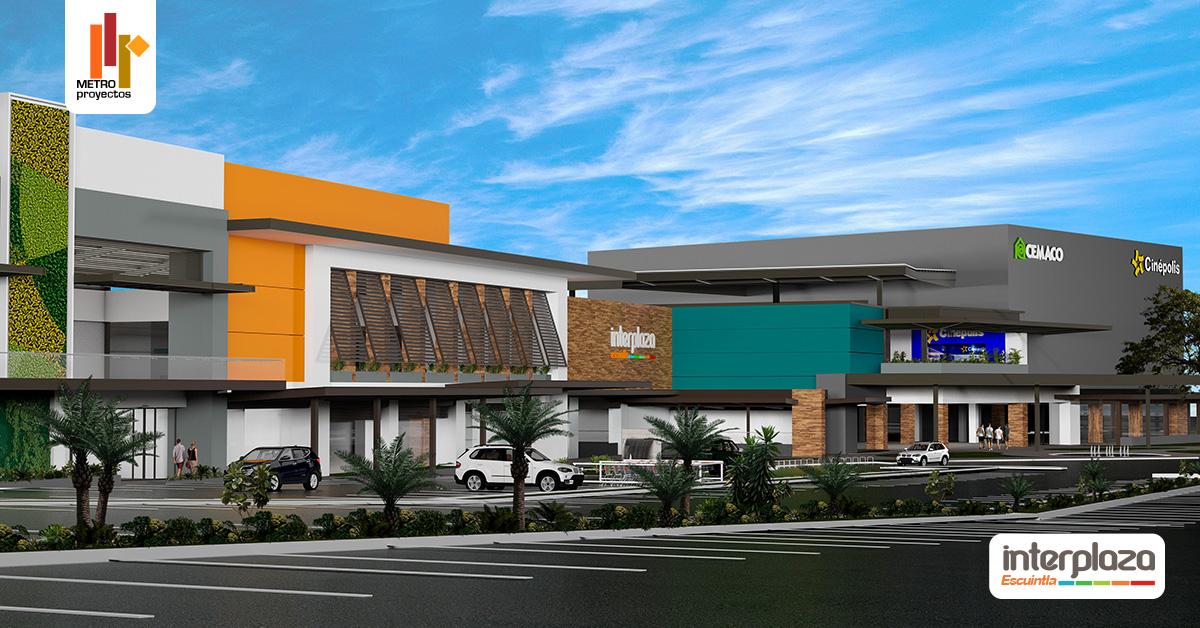 Locales en alquiler en centro comercial de Escuintla Interplaza Escuintla de METROPROYECTOS